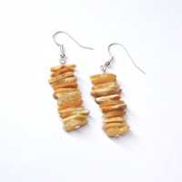 Raw Royal - Milky Baltic Amber Nuggets Dangle Earrings
