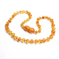 Unpolished Baroque Style Honey Teething Necklace