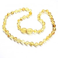 LUXURY Polished Round Style Lemon Teething Necklace