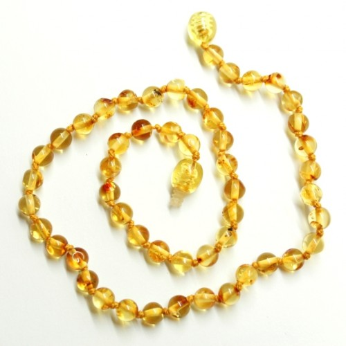 LUXURY Polished Round Style Honey Teething Necklace