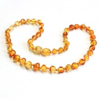 Polished Baraque Style Honey Amber Baby Teething Necklace