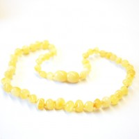 Polished Baroque Style Milky (Royal) Amber Baby Teething Necklace