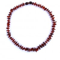 10 Polished Split Style Dark Cognac Amber Baby Teething Necklaces