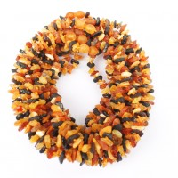 10 Raw Split Style Multi-color Baltic Amber Teething Necklace