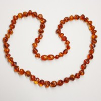 Lot of 10  Polished Baraque Style Light Cognac Color Baltic Amber Necklaces