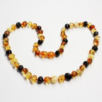 Lot of 10  Polished Baraque Style Multicolor Baltic Amber Necklaces