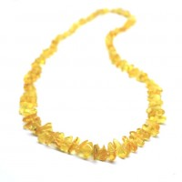 Polished Nuts Style Lemon Color Baltic Amber Necklaces