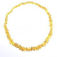 Lot of 10  Polished Nuts Style Lemony Color Baltic Amber Necklaces