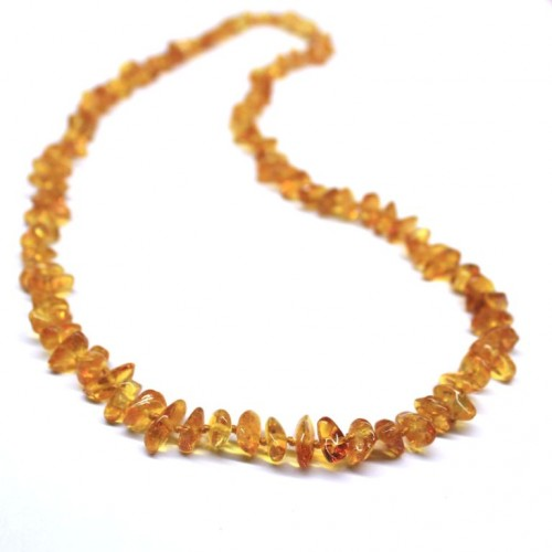 Polished Nuts Style Honey Color Baltic Amber Necklaces