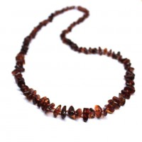 Polished Nuts Style Dark Cognac Color Baltic Amber Necklaces