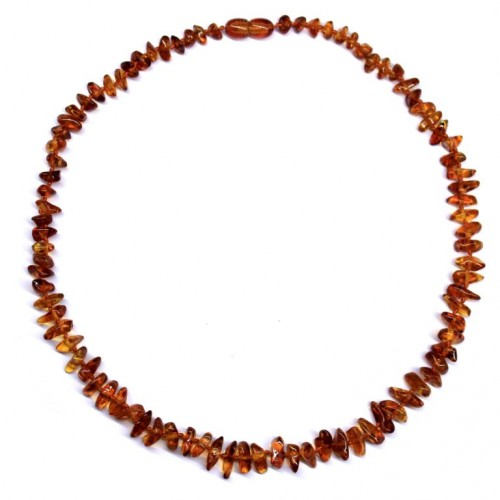 10 Polished Nuts Style Light Cognac Color Baltic Amber Necklaces