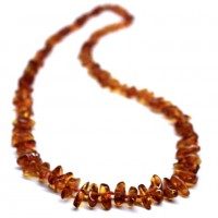Polished Nuts Style Light Cognac Color Baltic Amber Necklaces