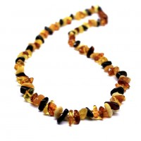 Polished Nuts Style Multicolor Baltic Amber Necklaces