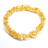 Polished Nuts Style Lemon Baltic Amber Adult Elastic Healing Bracelet