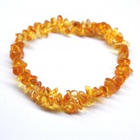 Polished Nuts Style Honey Baltic Amber Adult Elastic Healing Bracelet