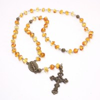 Honey Color Baltic Amber Christian / Catholic Rosary