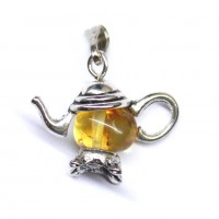Small Honey Color Baltic Amber Pendant 4