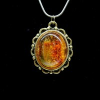 Polished Cognac Color Baltic Amber Pendant 50
