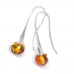 Amber Earrings With Hook