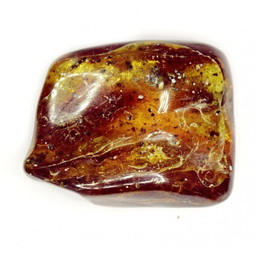 Cognac color Polished Natural Baltic Amber piece 25.7 g