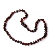 Polished Baroque Style Cherry Teething Necklace