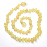 Unpolished Baroque Style Lemon color Baltic Amber Teething Necklace