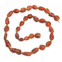 Unpolished Olive Cognac Amber Baby Teething Necklace
