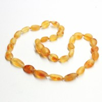 Unpolished Olive Style Honey Baltic Amber Baby Teething Necklace