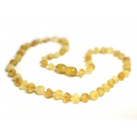 Unpolished Baroque Style Lemon / Honey Teething Necklace