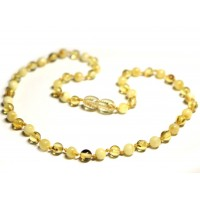 LUXURY Polished Round Style Lemon / Milky Teething Necklace