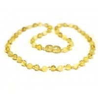 LUXURY Polished Round Style Milky and Lemon Baltic Amber Teething Necklace
