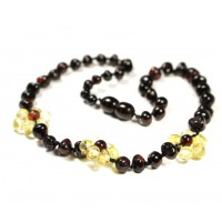 Polished Luxury Plaited Style Lemon/Cherry Amber Teething Necklace