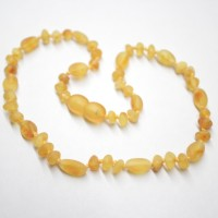 Unolished Baraque / Olive Style Honey Amber Baby Teething Necklace