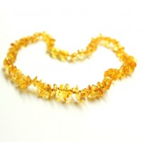 Polished Split Style Lemon Baltic Amber Teething Necklace