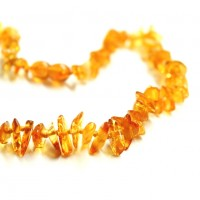 Polished Split Style Honey Teething Necklace
