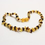 Polished Nuts Style Multicolor Baltic Amber Teething Necklace