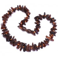 Raw Split Style Dark Cognac Teething Necklace