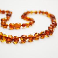 Polished Baroque Style Light Cognac Adult / Mom Healing Necklace