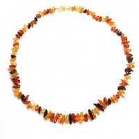 Polished Split Style Multicolor Baltic Amber Adult / Mom Healing Necklace