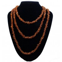 Raw Split Style Cognac Adult / Mom Healing Necklace 200cm