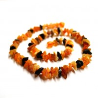 10 Raw Split Style Multicolor Adult Healing Necklace