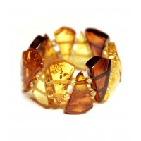 Multi Color Baltic Amber Elastic Ring  24