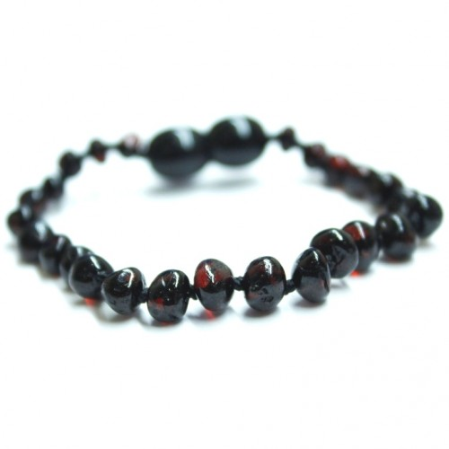 Polished Baroque Style Cherry Amber Teething  Bracelet/Anklet For Baby