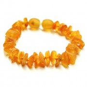 Raw Split Style Honey Teething Bracelet / Anklet