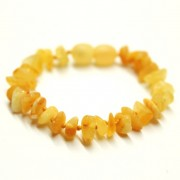 Raw Split Style Milky Teething Bracelet / Anklet