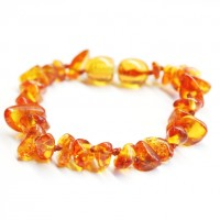 Nuts Style Honey Color Baltic Amber Teething Bracelet/Anklet