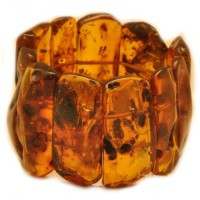 Massive Polished Light Cognac Baltic Amber Adult Bracelet 130g
