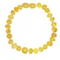 Polished Baroque Style Royal Milky Baltic Amber Adult / Mom Bracelet