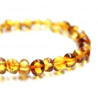 Polished Baraque Style Honey Baltic Amber Adult / Mom Bracelet