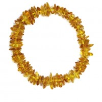 Polished Split Style Honey Baltic Amber Adult Elastic Healing Bracelet